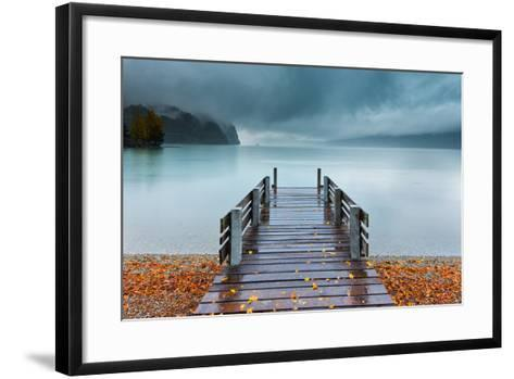 An Autumn Storm Rolls in across Lake Brienz from the Mountains of the Bernese Oberland-Garry Ridsdale-Framed Art Print