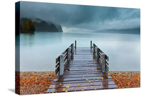 An Autumn Storm Rolls in across Lake Brienz from the Mountains of the Bernese Oberland-Garry Ridsdale-Stretched Canvas Print