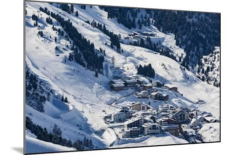 The Austrian Skiing Village of Obergurgl Covered in Winter Snow at the End of the Otztal Valley-Garry Ridsdale-Mounted Photographic Print