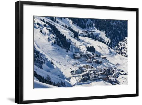 The Austrian Skiing Village of Obergurgl Covered in Winter Snow at the End of the Otztal Valley-Garry Ridsdale-Framed Art Print