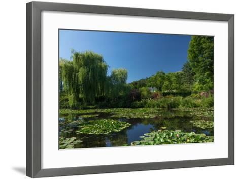 Monet's House Behind the Waterlily Pond, Giverny, Normandy, France, Europe-James Strachan-Framed Art Print