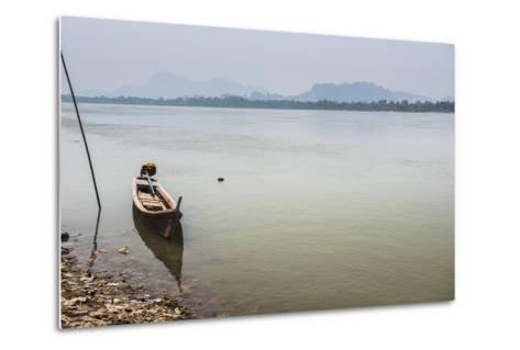 Motor Boat on Salween River (Thanlwin River), Hpa An, Karen State (Kayin State)-Matthew Williams-Ellis-Metal Print