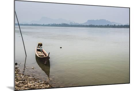 Motor Boat on Salween River (Thanlwin River), Hpa An, Karen State (Kayin State)-Matthew Williams-Ellis-Mounted Photographic Print