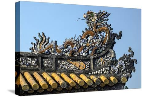 Thai Hoa Palace Dated 19th Century, Roof Detail-Nathalie Cuvelier-Stretched Canvas Print