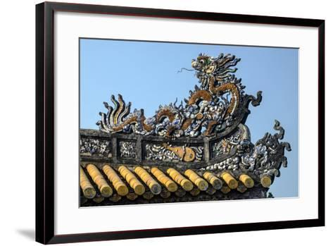 Thai Hoa Palace Dated 19th Century, Roof Detail-Nathalie Cuvelier-Framed Art Print