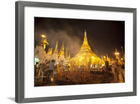 Shwedagon Pagoda, Yangon (Rangoon), Myanmar (Burma), Asia-Colin Brynn-Framed Art Print