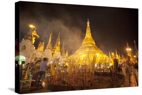 Shwedagon Pagoda, Yangon (Rangoon), Myanmar (Burma), Asia-Colin Brynn-Stretched Canvas Print