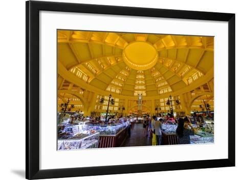 The Central Market, Built in 1937 in Art-Deco Style by the French Architect Jean Desbois-Nathalie Cuvelier-Framed Art Print