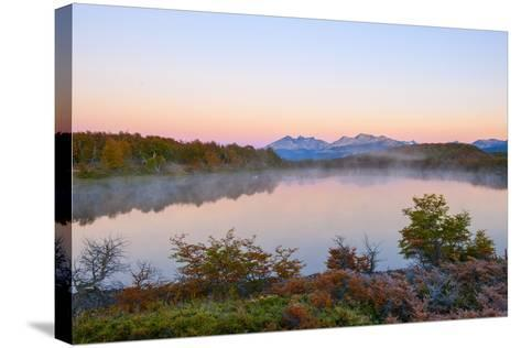 Lake in Autumn, Patagonia, Argentina, South America-Pablo Cersosimo-Stretched Canvas Print