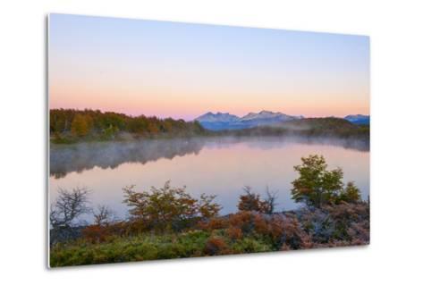 Lake in Autumn, Patagonia, Argentina, South America-Pablo Cersosimo-Metal Print