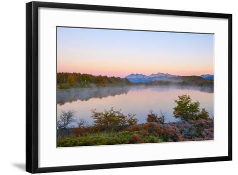 Lake in Autumn, Patagonia, Argentina, South America-Pablo Cersosimo-Framed Art Print