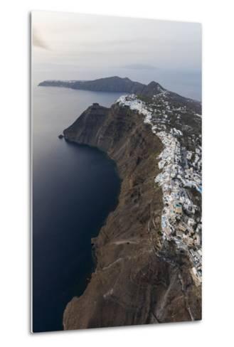 Aerial View of the Old Village of Firostefani, Santorini, Cyclades, Greek Islands, Greece, Europe-Roberto Moiola-Metal Print