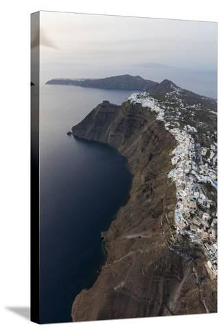 Aerial View of the Old Village of Firostefani, Santorini, Cyclades, Greek Islands, Greece, Europe-Roberto Moiola-Stretched Canvas Print
