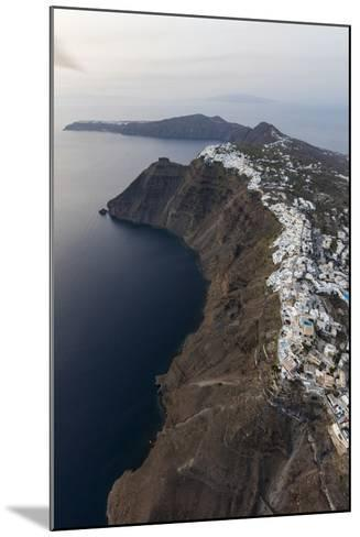 Aerial View of the Old Village of Firostefani, Santorini, Cyclades, Greek Islands, Greece, Europe-Roberto Moiola-Mounted Photographic Print