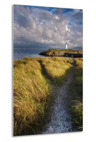 A Coastal Path Leading to Twr Mawr Lighthouse on Llanddwyn Island, Anglesey, Wales-Garry Ridsdale-Metal Print