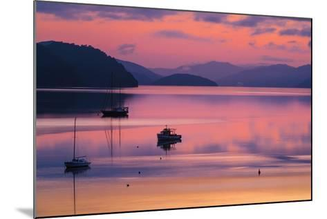 The Peaceful and Tranquil Waters of Queen Charlotte Sound at Dawn, South Island, New Zealand-Garry Ridsdale-Mounted Photographic Print