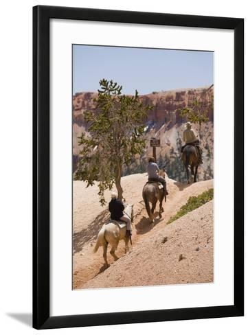 Horseback Riding Through Bryce Canyon National Park, Utah, United States of America, North America-Garry Ridsdale-Framed Art Print