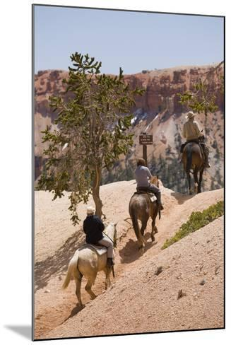 Horseback Riding Through Bryce Canyon National Park, Utah, United States of America, North America-Garry Ridsdale-Mounted Photographic Print