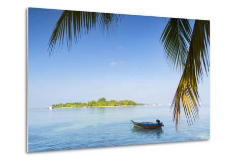 View of Kuramathi Island, Rasdhoo Island, Northern Ari Atoll, Maldives, Indian Ocean, Asia-Ian Trower-Metal Print
