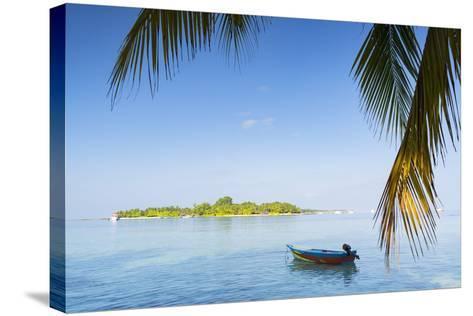 View of Kuramathi Island, Rasdhoo Island, Northern Ari Atoll, Maldives, Indian Ocean, Asia-Ian Trower-Stretched Canvas Print