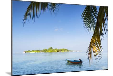View of Kuramathi Island, Rasdhoo Island, Northern Ari Atoll, Maldives, Indian Ocean, Asia-Ian Trower-Mounted Photographic Print