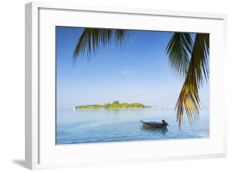 View of Kuramathi Island, Rasdhoo Island, Northern Ari Atoll, Maldives, Indian Ocean, Asia-Ian Trower-Framed Art Print