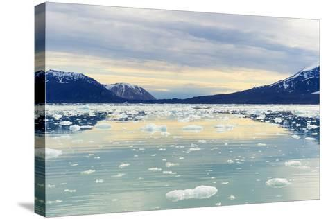 Lilliehook Glacier in Lilliehook Fjord, a Branch of Cross Fjord, Spitsbergen Island-G&M Therin-Weise-Stretched Canvas Print