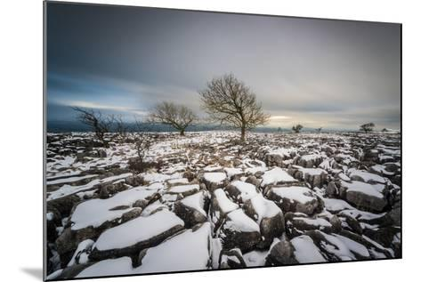 Twistleton Scar End in Snow, Ingleton, Yorkshire Dales, Yorkshire, England, United Kingdom, Europe-Bill Ward-Mounted Photographic Print