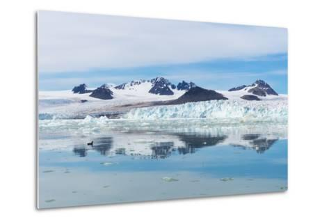 Lilliehook Glacier in Lilliehook Fjord, a Branch of Cross Fjord, Spitsbergen Island-G&M Therin-Weise-Metal Print