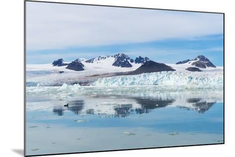 Lilliehook Glacier in Lilliehook Fjord, a Branch of Cross Fjord, Spitsbergen Island-G&M Therin-Weise-Mounted Photographic Print