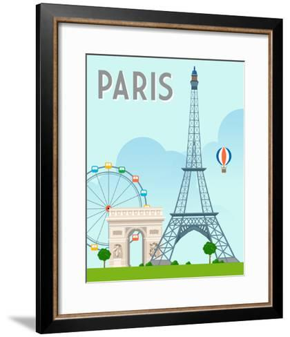 Destination Paris-The Trainyard Cooperative-Framed Art Print