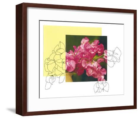 Floral Contour 4-The Trainyard Cooperative-Framed Art Print
