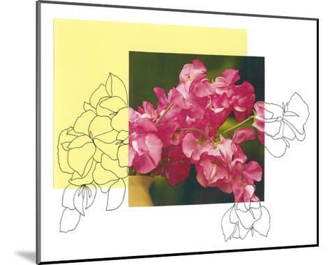 Floral Contour 4-The Trainyard Cooperative-Mounted Premium Giclee Print