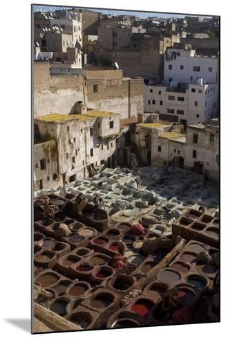 Tannery, Fes, Morocco-Natalie Tepper-Mounted Photo