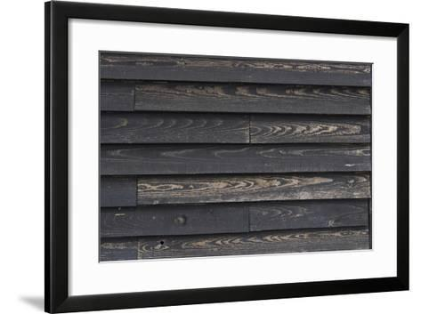 Old Weather-Beaten Wooden Slats on a Hut by the Ore River Estuary, Orford, Suffolk, England-Natalie Tepper-Framed Art Print