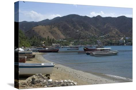 The Fishing Village of Taganga, Along the Caribbean Coast, Colombia-Natalie Tepper-Stretched Canvas Print