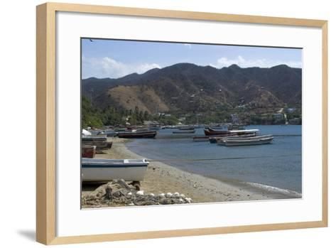 The Fishing Village of Taganga, Along the Caribbean Coast, Colombia-Natalie Tepper-Framed Art Print