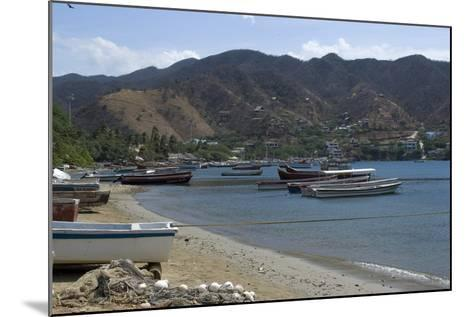 The Fishing Village of Taganga, Along the Caribbean Coast, Colombia-Natalie Tepper-Mounted Photo