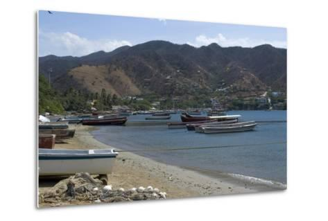 The Fishing Village of Taganga, Along the Caribbean Coast, Colombia-Natalie Tepper-Metal Print