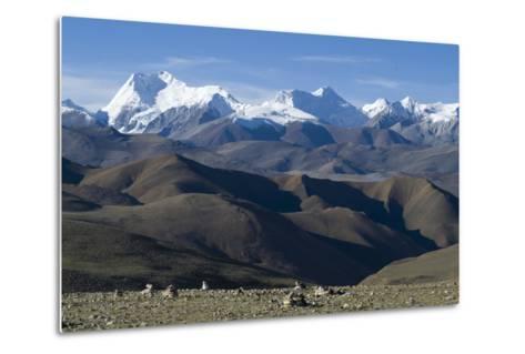 View of Himalaya Range (The World's Tallest Mountains), Tibet, China-Natalie Tepper-Metal Print