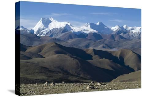 View of Himalaya Range (The World's Tallest Mountains), Tibet, China-Natalie Tepper-Stretched Canvas Print