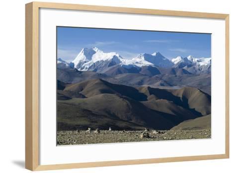 View of Himalaya Range (The World's Tallest Mountains), Tibet, China-Natalie Tepper-Framed Art Print