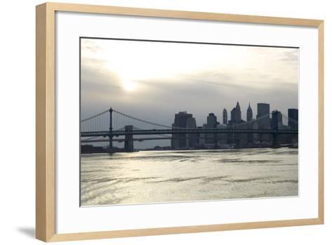 Downtown Manhattan from the Hudson River, New York City-G. Jackson-Framed Art Print