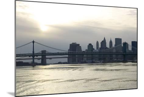 Downtown Manhattan from the Hudson River, New York City-G. Jackson-Mounted Photo