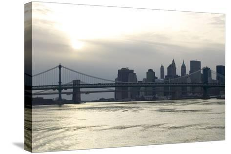 Downtown Manhattan from the Hudson River, New York City-G. Jackson-Stretched Canvas Print
