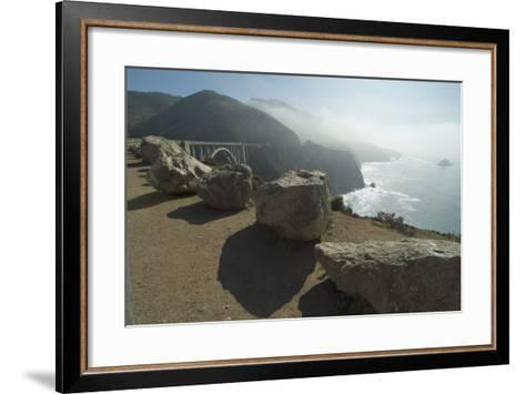 Pacific Coastline at Bixby Bridge, Near Big Sur, California, Usa-Natalie Tepper-Framed Art Print