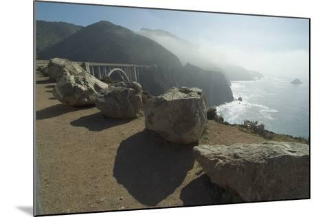Pacific Coastline at Bixby Bridge, Near Big Sur, California, Usa-Natalie Tepper-Mounted Photo