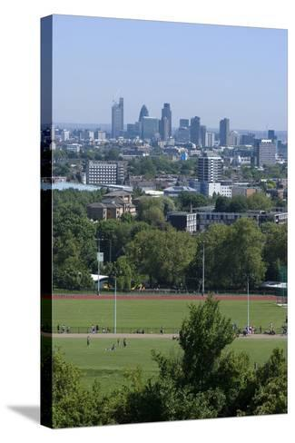 View over Central London from Parliament Hill, Hampstead Heath, Hampstead, London, Nw3-Natalie Tepper-Stretched Canvas Print