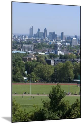 View over Central London from Parliament Hill, Hampstead Heath, Hampstead, London, Nw3-Natalie Tepper-Mounted Photo