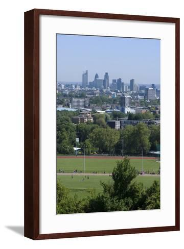 View over Central London from Parliament Hill, Hampstead Heath, Hampstead, London, Nw3-Natalie Tepper-Framed Art Print